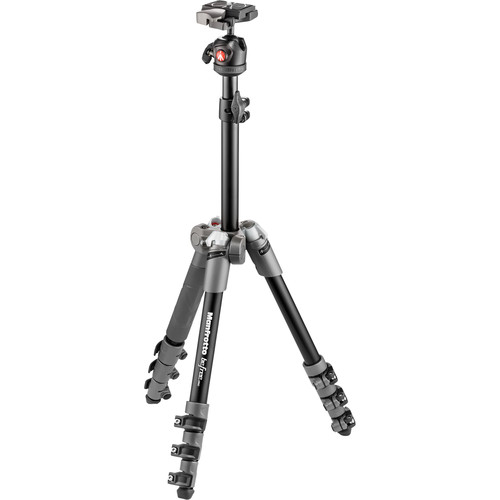 Manfrotto BeFree One Aluminum Tripod (Gray) - B&C Camera