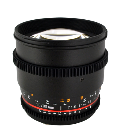 Rokinon 85mm T1.5 Cine Lens - Canon EF Mount by Rokinon at B&C Camera