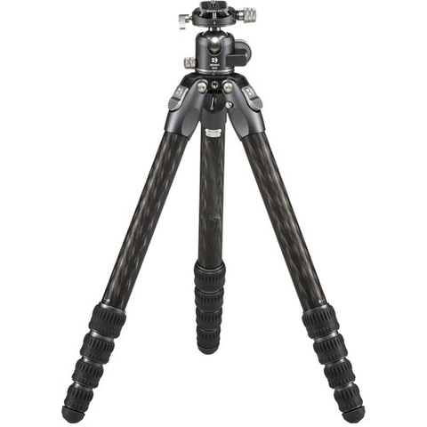 Benro Tortoise Columnless Carbon Fiber Three Series Tripod with GX35 Ballhead, 5 Leg Sections, Twist Leg Locks, Padded Carrying Case