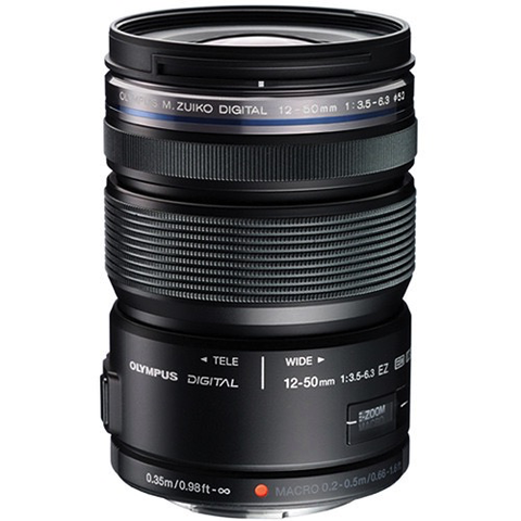 Olympus M.Zuiko ED 12-50mm f/3.5-6.3 EZ Micro Four Thirds Lens (Black) by Olympus at bandccamera