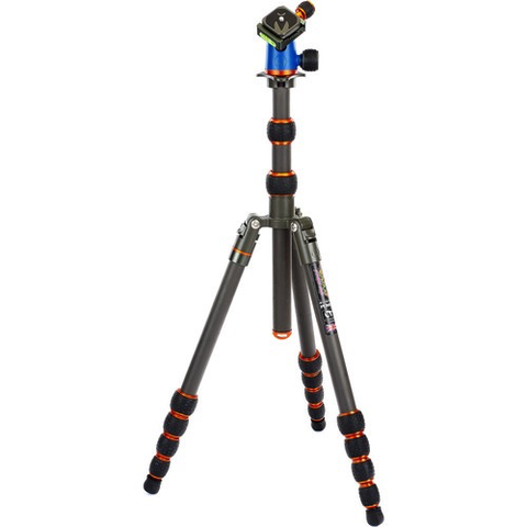 3 Legged Thing Punks Brian Travel Tripod with Airhed Neo Ball Head (Carbon Fiber, Bronze/Blue) by 3leggedthing at B&C Camera