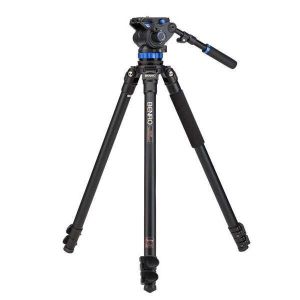 Benro A373 Series 3 Aluminum Video Tripod And S7 Head by Benro at bandccamera