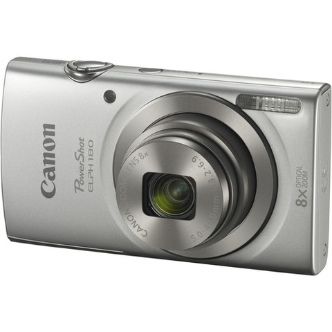 Canon PowerShot ELPH 180 Digital Camera (Silver) by Canon at B&C Camera