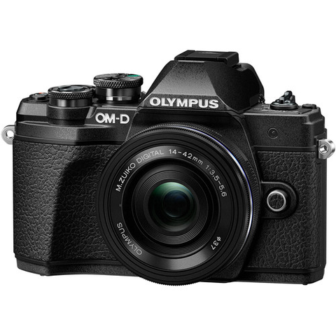 Olympus OM-D E-M10 Mark III Mirrorless Micro Four Thirds Digital Camera with 14-42mm EZ Lens (Black) by Olympus at B&C Camera
