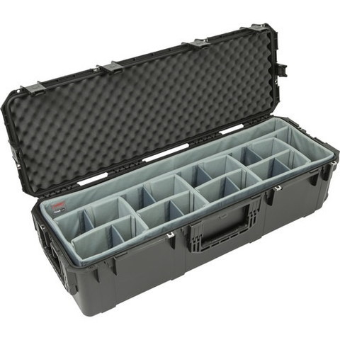 SKB iSeries 4213-12 Waterproof Case with Wheels with Think Tank-Designed Lighting/Stand Dividers & Lid Foam (Black)