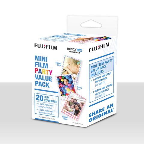 Fuji Instax Mini Instant Film Party Pack (20 Exposures) by Fujifilm at bandccamera