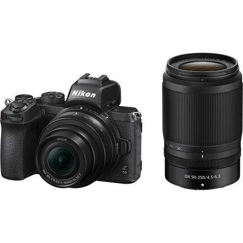 Nikon Z 50 Mirrorless Digital Camera with 16-50mm and 50-250mm Lenses by Nikon at B&C Camera