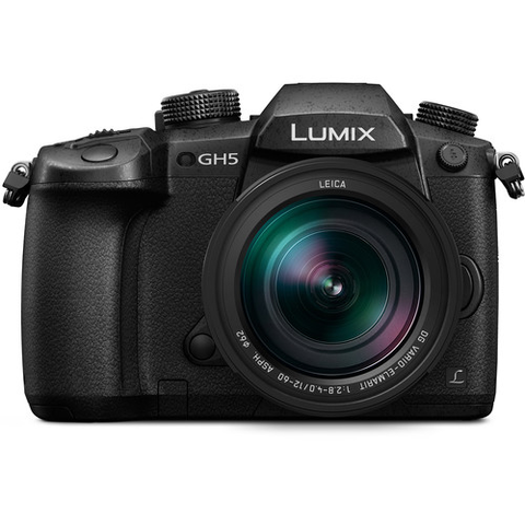 Panasonic Lumix DC-GH5 Mirrorless Micro Four Thirds Digital Camera with 12-60mm Lens by Panasonic at B&C Camera