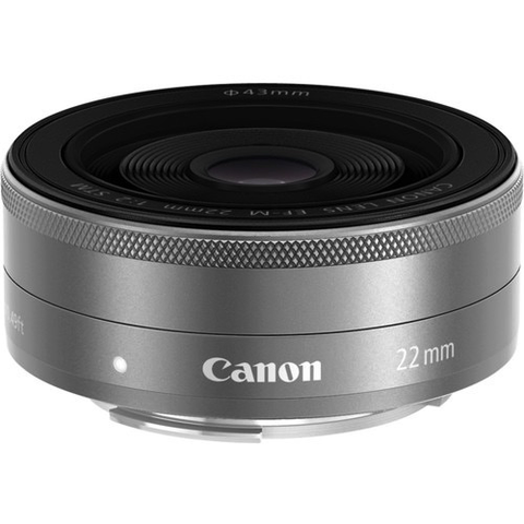 Canon EF-M 22mm f/2 STM Lens (Silver) by Canon at bandccamera