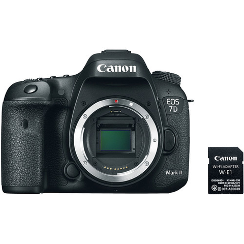 Canon EOS 7D Mark II DSLR Camera Body with W-E1 Wi-Fi Adapter by Canon at bandccamera