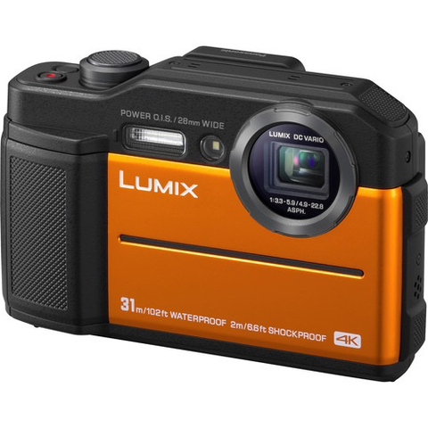 Panasonic Lumix DC-TS7 Digital Camera (Orange) by Panasonic at bandccamera