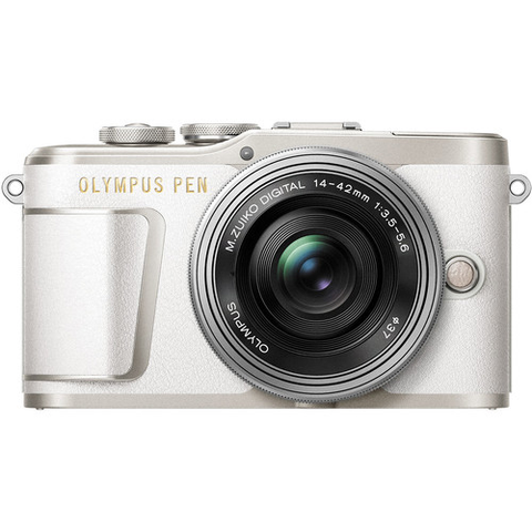 Olympus PEN E-PL9 Mirrorless Micro Four Thirds Digital Camera Kit with 14-42mm Lens, Camera Bag, Strap, 16GB Memory Card (White)