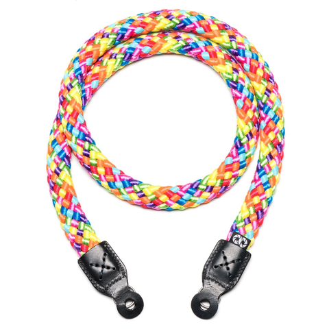COOPH Braid Camera Strap Rainbow 100CM