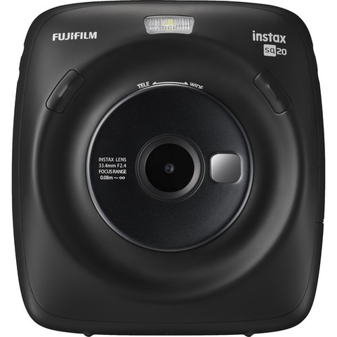 FUJIFILM INSTAX SQUARE SQ20 Hybrid Instant Camera (Black) by Fujifilm at bandccamera