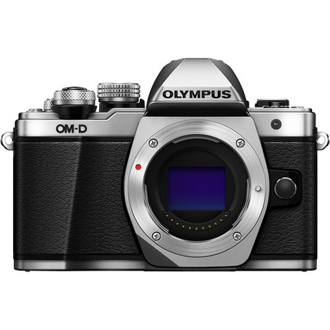 Olympus OM-D E-M10 Mark II Mirrorless Micro Four Thirds Digital Camera Body (Silver) - B&C Camera
