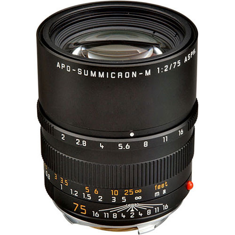 Leica APO Summicron-M 75mm f/2.0 ASPH Manual Focus Lens