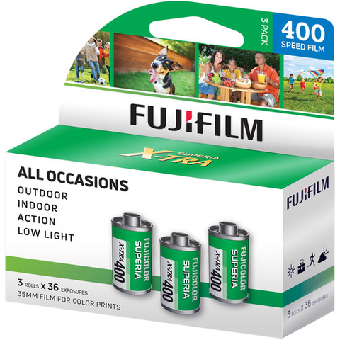 FujiFilm 400-36 Superia 3-Pack (108 exposures) by Fujifilm at B&C Camera
