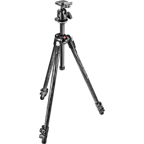 Manfrotto 290 Xtra Carbon Fiber Tripod with Ball Head by Manfrotto at bandccamera