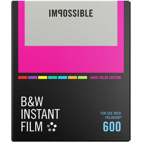 Polaroid Impossible B&W Instant Film for 600 (Hard Color Frame, 8 Exposures) - B&C Camera