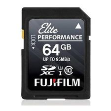 Fujifilm 64GB UHS-II Elite II Performance SDXC Card, 285MB/s by Fujifilm at bandccamera