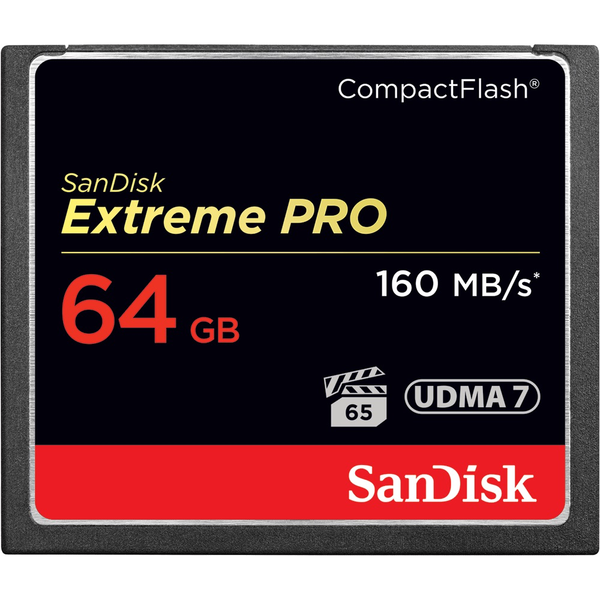 SanDisk Extreme Pro Compact Flash Memory Card - 64GB 160 MB/s