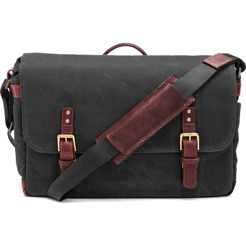 ONA The Union Street Messenger Bag (Black, Waxed Canvas & Leather) by ONA BAGS at bandccamera