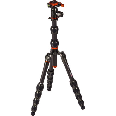 3 Legged Thing Eclipse Leo Carbon Fiber Tripod System with AirHed Switch Ball Head (Gunmetal Gray) by 3leggedthing at B&C Camera