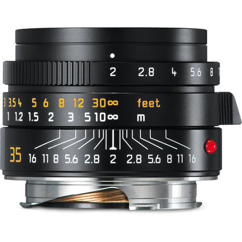Leica Summicron-M 35mm f/2 ASPH Lens (Black) - B&C Camera