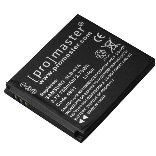 Promaster SLB-07A Lithium Ion Battery for Samsung - B&C Camera