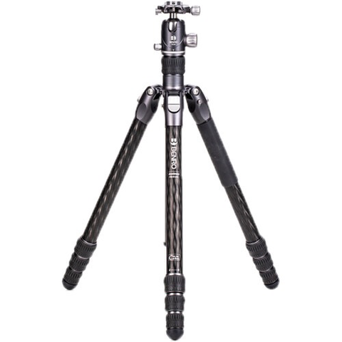 Benro Rhino Carbon Fiber Three Series Tripod/ Monopod with VX30 Ballhead, 4 Leg Sections, Twist Leg Locks, Padded Carrying Case