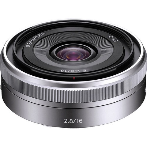 Sony 16mm f/2.8 Wide-Angle Alpha E-Mount Lens (Silver) by Sony at B&C Camera