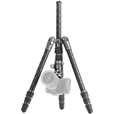 Benro Bat Carbon Fiber Two Series Travel Tripod/ Monopod with VX25 Ballhead, 4 Leg Sections, Twist Leg Locks, Padded Carrying Case