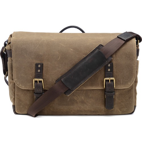 ONA The Union Street Messenger Bag (Ranger Tan, Waxed Canvas & Leather) by ONA BAGS at B&C Camera