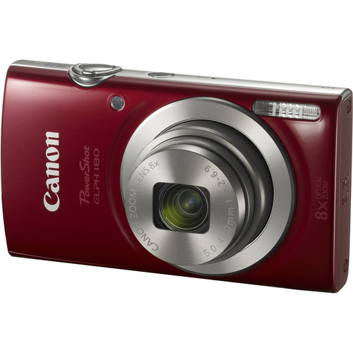 Canon PowerShot ELPH 180 Digital Camera (Red) by Canon at B&C Camera