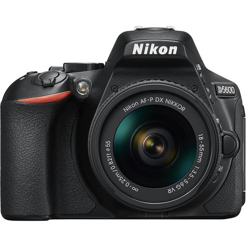 Nikon D5600 DX-format Digital SLR Body (Black) w/ AF-P DX NIKKOR 18-55mm f/3.5-5.6G VR by Nikon at bandccamera