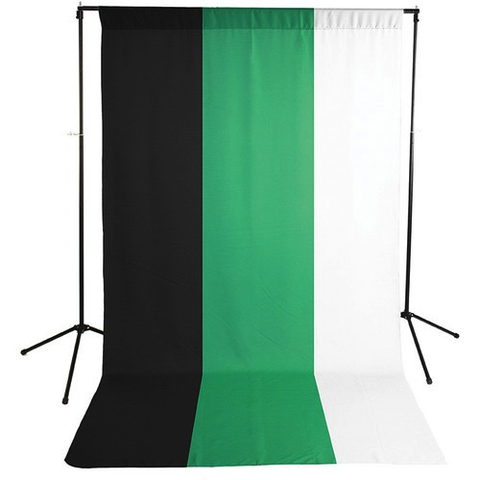 Savage Economy Background Kit 5x9' (White, Black, and Chroma Green Backdrops)