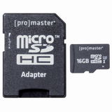 Promaster 16GB High Speed microSDHC 660X Memory Card with SD Card Adapter by Promaster at bandccamera