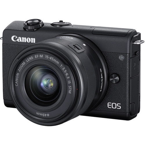 Canon EOS M200 Mirrorless Digital Camera with 15-45mm Lens (Black) by Canon at B&C Camera