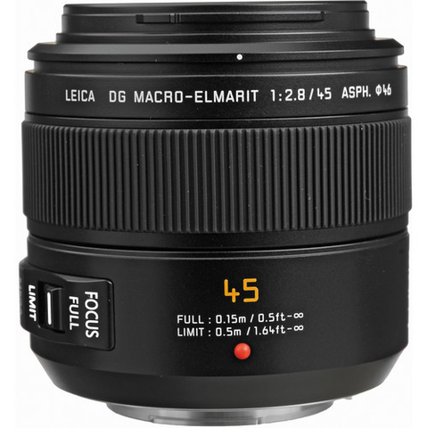 Panasonic Leica DG Macro-Elmarit 45mm f/2.8 ASPH. MEGA O.I.S. Lens by Panasonic at B&C Camera