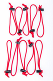 thinkTANK Photo Red Whips Adjustable Cable Ties (10 Pack) - B&C Camera