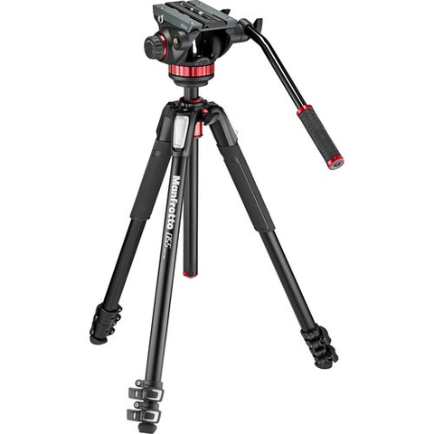 Manfrotto 502AH Video Head & MT055XPRO3 Aluminum Tripod Kit by Manfrotto at bandccamera