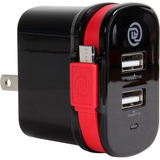 Digital Treasures ChargeIt! Dual Output Wall Charger with Micro USB Cable by PC TREASURES LLC at bandccamera