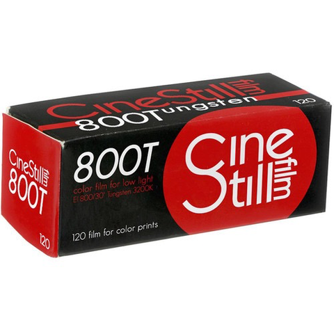 Cinestill 800Tungsten Xpro C-41 Color Negative Film (120 Roll Film)