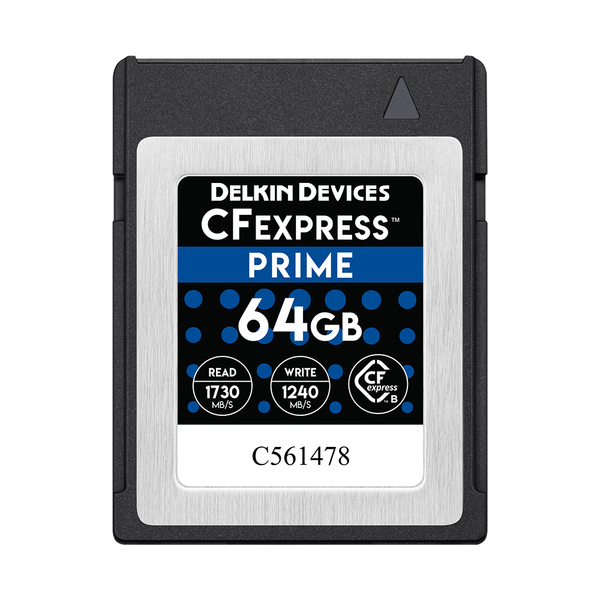 Delkin Devices 64GB Prime CFexpress Type B Memory Card