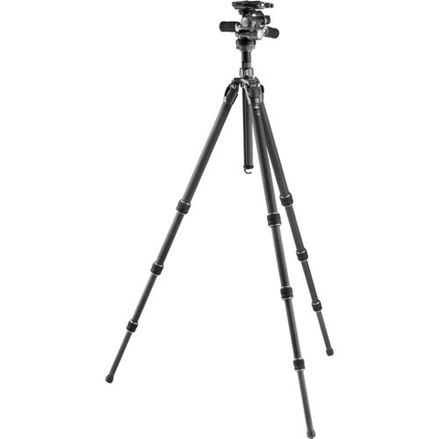 Gitzo GT2542 Mountaineer Series 2 Carbon Fiber Tripod with GHF3W 3-Way Fluid Head Kit by Gitzo at B&C Camera