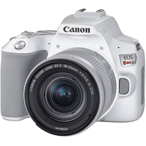Canon EOS Rebel SL3 DSLR Camera with 18-55mm Lens (White) by Canon at B&C Camera