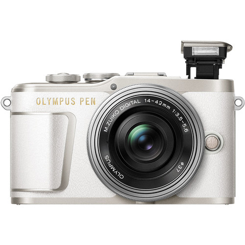 Olympus PEN E-PL9 Mirrorless Micro Four Thirds Digital Camera Kit with 14-42mm Lens, Camera Bag, Strap, 16GB Memory Card (White) by Olympus at B&C Camera
