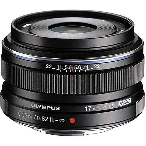 Olympus M.Zuiko Digital 17mm f/1.8 Lens (Black) by Olympus at B&C Camera