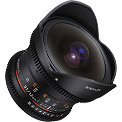 Rokinon 12mm T3.1 ED AS IF NCS UMC Cine DS Fisheye Lens - Sony E Mount - B&C Camera