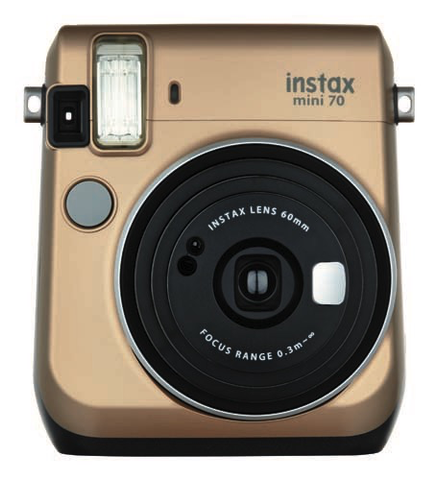 FujiFilm Instax Mini 70 Instant Camera - Gold by Fujifilm at bandccamera